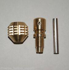 "1pc Brass Tattoo 1.38"" inch or 35mm Beveled Ridge Grip with Back Stem Tube Kit"