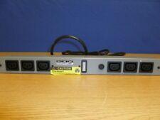 """Controltek Power Bar 19"""" Rack Mount C20 Plug Inlet C14 Skt Outlet Fuse Light D21"""