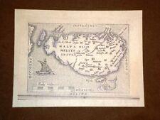 Mappa Isola Malta Theatrum Orbis Terrarum 1724 Abraham Ortelius Ortelio Ristampa