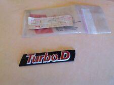 7584782 TURBO D Sigla Modello Fregio Scritta Emblem Fiat Uno x Griglia Radiatore