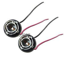 2pcs 1156 7506 LED Bulb Turn Brake Signal Backup Lights Sockets Harness Adapters