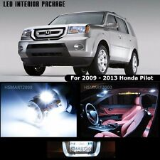 15PCS Cool White LED Bulbs Interior Package Kit For 2009 - 2013 Honda Pilot