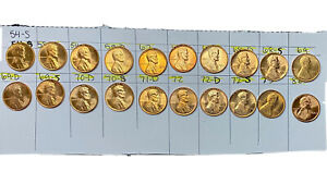 Uncirculated Lincoln Cents No Dark Spots Lot Of 20 Great Album Upgrade