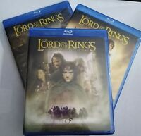 Blu Ray The Lord of The Rings Trilogy LOTR Sealed New Movie Lot of 3