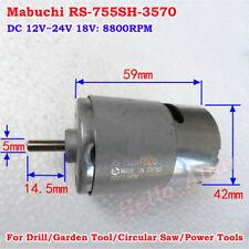 MABUCHI RS-755SH-3570 Electric DC Motor DC 12V-24V 18V 8800RPM For Garden Tools