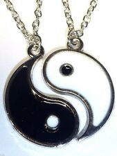 2 DOPPIO parte Yin Yang COPPIA di collane per gli amanti delle coppie partner UK Venditore