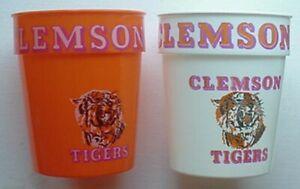 1970s CLEMSON TIGERS STADIUM CUPS (2) ***SECOND GENERATION***