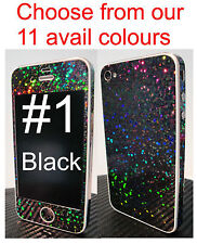 *SPARKLES*RAINBOW *Sticker for iPhone 4 Full Body Skin **Choice of 14 Colours**