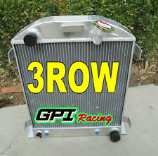 3 ROW FOR Ford 1932 hot rod w/Chevy 350 V8 engine aluminum radiator