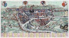 Reproduction plan ancien de Liège (Luik) 1649