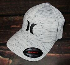 MENS HURLEY LIGHT GRAY MARBLE HAT FLEX FIT FITTED CAP SIZE L/XL