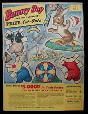 Uncut Bunny Boy and His Playmates Set No. 1, Full Page, 1938, Ill. Milo Winter