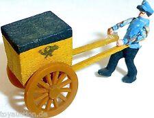 CARTERO CON briefkarren postkarren madera Preiser 1:87 H0 #GD1 PR0 å