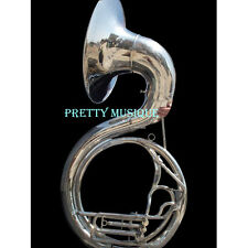 """SOUSAPHONE BIG SIZE 25"""" BELL IN CHROME POLISH + MOUTHPC + CASE (BEST OFFER EVER)"""