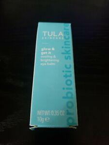 Tula Glow & Get It Cooling & Brightening Eye Balm Full Size .35 oz