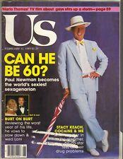 PAUL NEWMAN US Magazine 2/11/85 BURT REYNOLDS LONI ANDERSON MICHAEL JORDAN