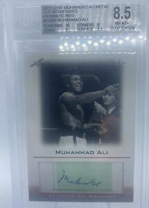 2011 Leaf Muhammad Ali Metal Cut Signatures /5 Prismatic Red BGS 8.5 Auto 10