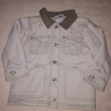 Gymboree Canvas Barn Coat 2T Baby Toddler Boy Jacket Buttons Tan EUC