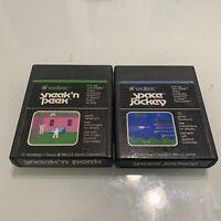 Vidtec Sneak N Peek Commando Raid Space Jockey Atari 2600 2 Game Lot