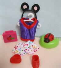"Barbie Kelly 4"" DOLL Shoes Outfit Clothes Nature Lover Mickey Mojse Ears Ladybug"