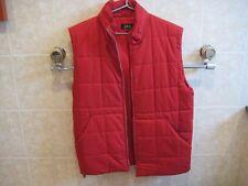 APC men's red cotton puffer vest size M Excellent worn one week Retail $325