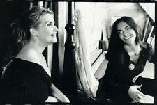 "2 Photos Jean François Jonvelle "" Balcons "" Christine Citti Making Of 1998"