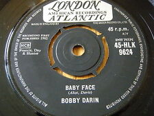 "BOBBY DARIN - BABY FACE     7"" VINYL"