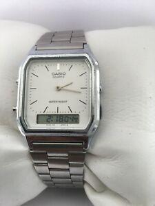 Casio Quartz  Digi Analogue  1301-AQ-230 Water Resistant  Steel Bracelet Watch