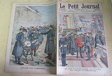 Le petit journal 1903 652 Edouard VII roi d'Angleterre cherbourg + école tambour