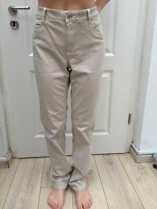 Bonita Jeans beige Gr 42 Stretch Denim Pailetten Saum an den Taschen 1A Zustand