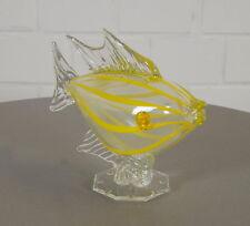 edler Joska Glas Kristall Fisch Karpfen Skulptur Glasfigur 18 cm 60er 70er Jahre