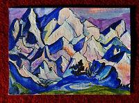 "Original art by Bastet ""Mountain Landscape #18"" OOAK hand painted ACEO"