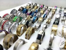 Rings wholesale mixed lots ebay new 100pcs mix lot stainless steel rings wholesale men women fashion jewelry lot mozeypictures