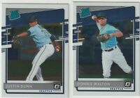 2020 DONRUSS OPTIC RATED ROOKIE Donnie Walton Justin Dunn Seattle Mariners