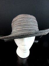 San Diego Hat Company Women's Sun Hat Kettle Brim Black Brown Tan Mixed Braid