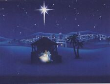 "*Postcard-""Christmas-""Bright Star Shines Right Above Nativity Scene""  (C11)"