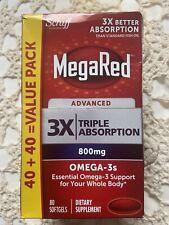 MegaRed ADVANCE 3x Triplo abosorption 800 MG 80 capsule scadenza 06/20