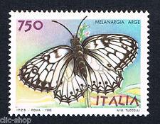 ITALIA 1 FRANCOBOLLO FARFALLE MELANGIA ARGE 1996 nuovo**