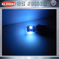 2x12V T10 5050 5SMD Icy Ice Blue LED Wedge Parker W5W Side Corner Dash Tail Bulb
