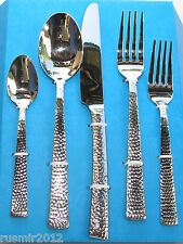 Hammered 60-Pc. Flatware Set Service for 12, Premium 18/10 Stainless Silverware