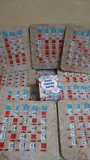 10 SENIOR FRIENDLY TABBED BINGO SHUTTER SLIDE CARDS W/ 1 DECK OF BINGO CARDS