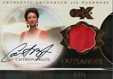 Outlander CZX, Caitriona Balfe 'Claire Fraser' Autograph Wardrobe Card CFW 05/25