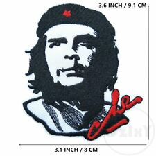 """Che Guevara embroidered iron on patch 3.1x3.6"""" - cuban communist revolutionary"""