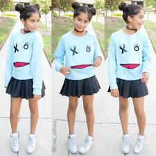 Girls top Agree2Disagree NY blue top size L size 10/12 wink face