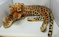 Vintage Giant Stuffed Spotted Leopard Display