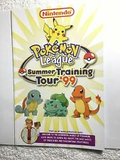 Pokemon League Summer Training Tour '99 Nintendo Manual VINTAGE EXTREMELY RARE