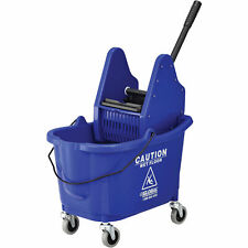 Mop Bucket And Wringer Combo With Down Press Blue