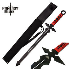 Fantasy Master Short Sword Double Edge Blade with Shoulder Sheath