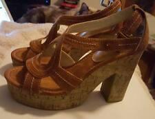 Mix It sexy retro Aruba platform/wedge heels, size 7M-NIB! suede-like & unique!!
