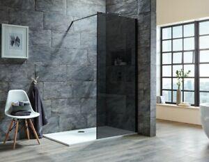 I8 8mm Black Wetroom Single Panel   (800mm, 9000mm, 1000mm, 1200mm)